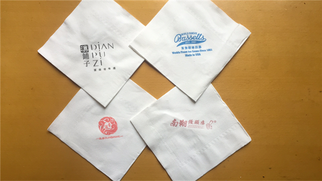 印标方巾纸
